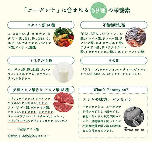 ユーグレナの栄養素